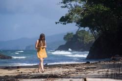 Sophie beachcombing
