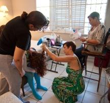 Getting Vivian ready