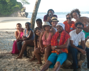 Some of the sunburnt crew